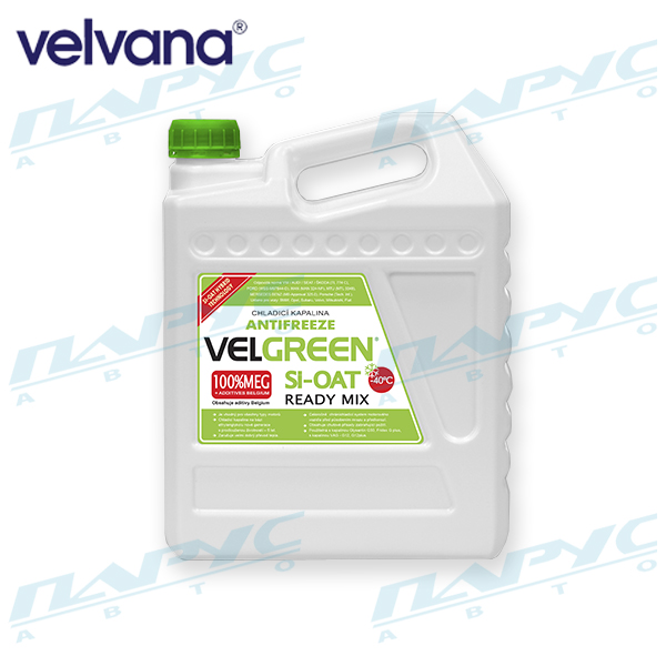 АНТИФРИЗ VELGREEN G12+ SI-OAT READY MIX 4.9 кг (3шт/упак) VELNORD 20709014